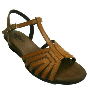 Sandals braided leather straps buckled ankle Manuel Almazan in leather