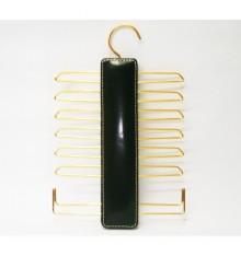 Tie Rack com 12 cabides para gravatas e cintos em 2 Attanze preto