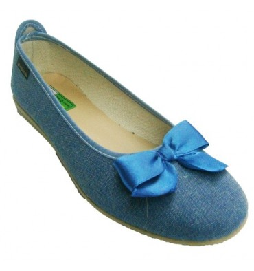 Manoletina Bow Alberola in jeans