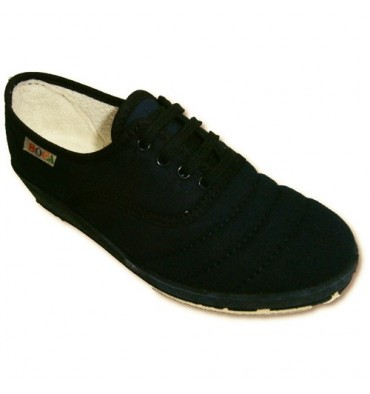 Wedge shoe laces to walk Soca in navy blue