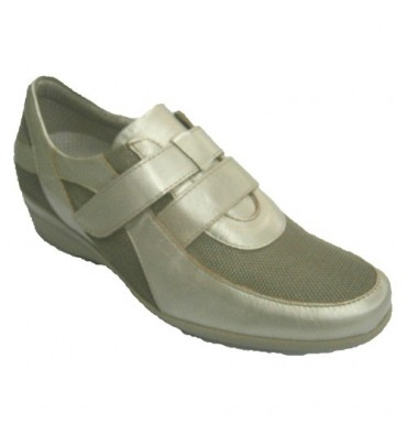 Sports metallic gray velcro Pitillos in metallic