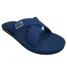 Flip flops at the beach or pool with two crossed strips Gioseppo in navy blue