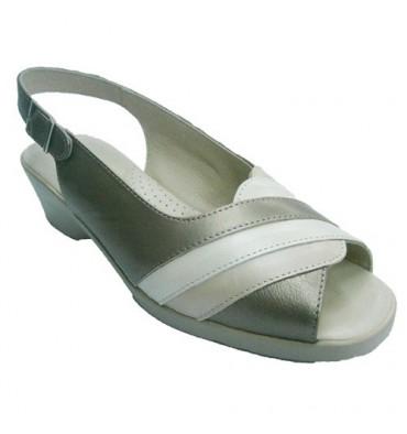 Sandalia abierta de tonos beigs claro Doctor Cutillas en beig