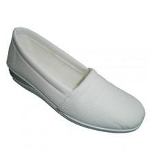 Nevada sapato fechado muito confortável em branco