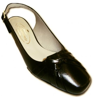 Knot back up open shoes comfortable Pomares Vazquez in black