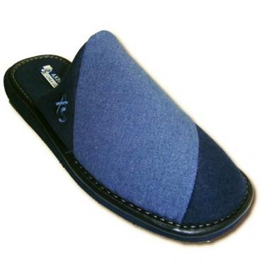 Chancla punta cerrada caballero combinada Andinas en azul marino