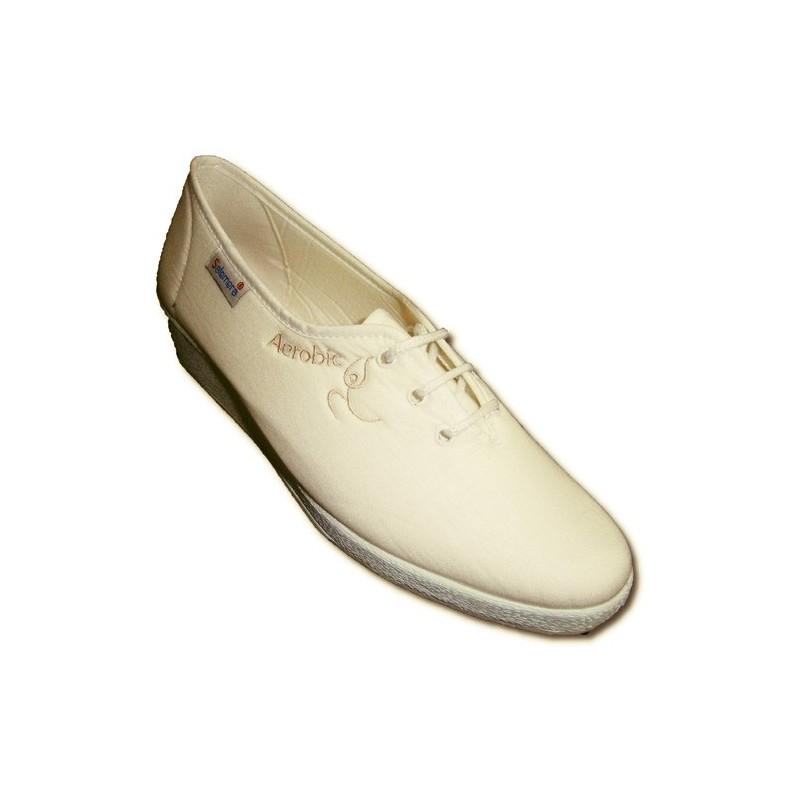 Zapatilla cordones plana para andar Soca en blanco talla 41 w8cI0s