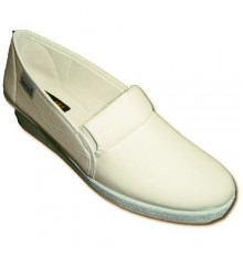 Shoes with rubber on the sides Wedge Salemera in white