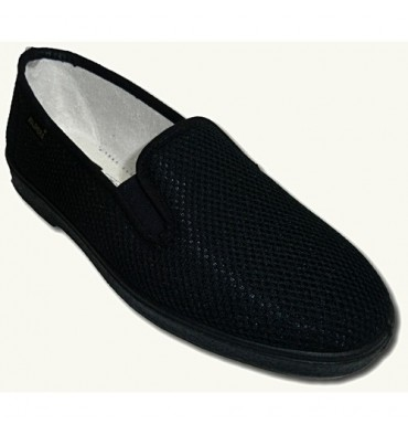 Shoe with rubber to fabric type grid sides very comfortable Salemera in navy blue