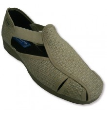 Slipper closed toe and open heel with rubber sides Muro in beig