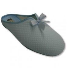 Sandálias dedo do pé fechado por cetim superior em arco celeste CALZAMUR