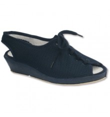 Open shoe laces heel and toe for very delicate feet Soca in navy blue