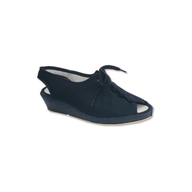 Zapatilla cordones abierta de punta y talón para pies muy delicados Soca en azul marino talla 36 5dLbNMmH6