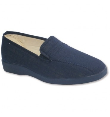 Closed shoes with rubber on the sides Soca in navy blue