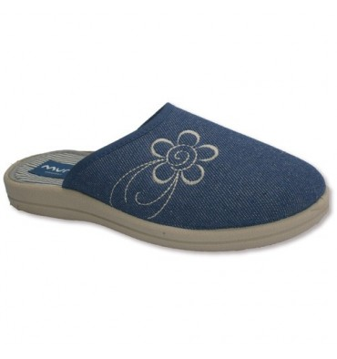 Slippers flip flops closed for the tip with embroidery next Muro in jeans