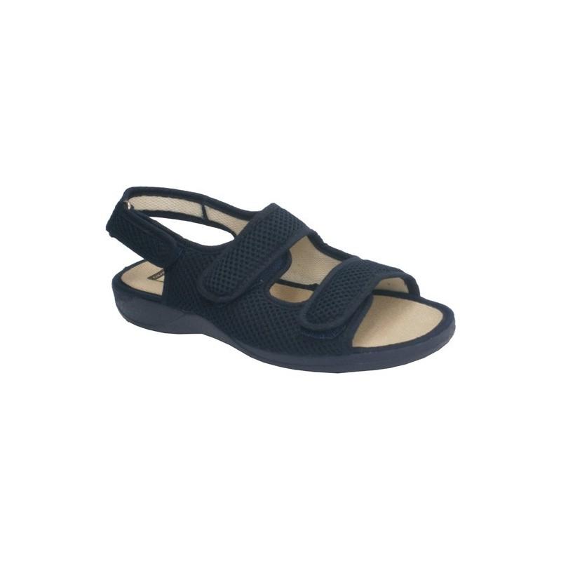 Zapatillas abierta punta y talón con broche de dos tiras de velcro en el empeine y otro atrás Calzamur en beig talla 40 5PsIJ
