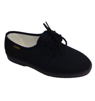 Shoe laces gentleman very comfortable very soft floor Salemera in navy blue