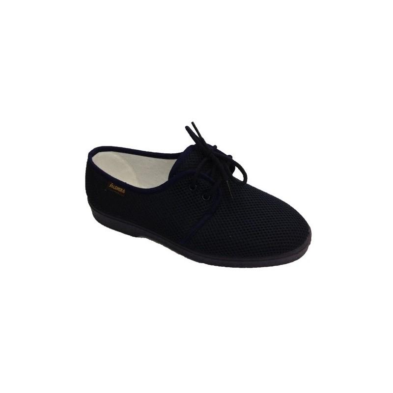 Zapatillas caballero con cordones muy comodas piso muy blando Salemera en azul marino talla 46 AH50uDi