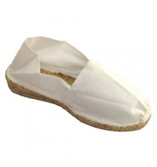 Esparto espadrille low wedge Made in Spain in white