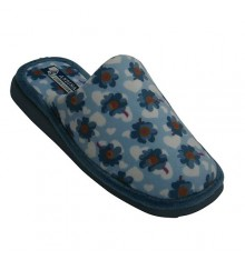 Flat flip flops with flowers and hearts Andinas in heavenly