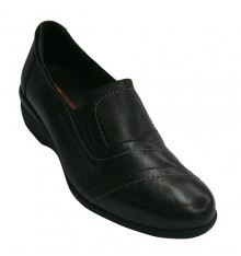 Shoes with rubber sides for comfortable Template Doctor Cutillas in black