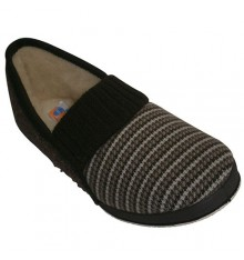 Gaspeada wedge shoe pure virgin wool lining Soca in dark Brown