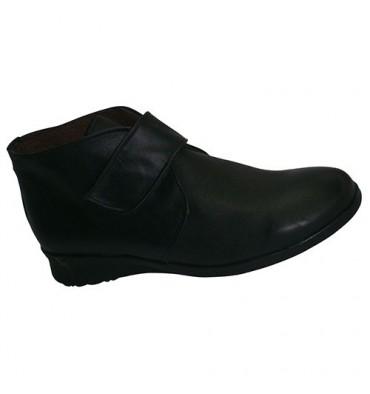 Botas com sola de borracha Velcro El Corzo em preto
