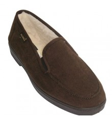 Shoes with rubber sides for comfortable and very soft soles Salemera in brown