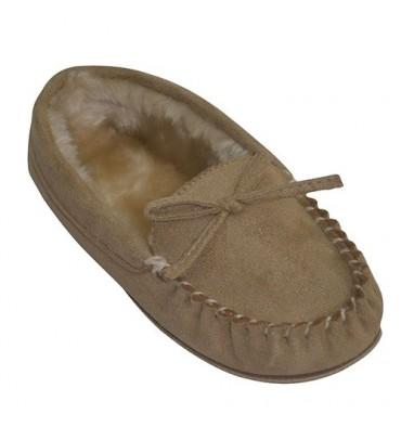 Mocassim de carneiro sneaker Gioseppo em bege