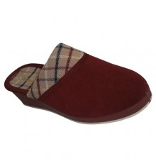 Flip flops with round tables and checkered floor also Salemera in red
