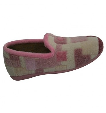 Slipper closed in various colors Nevada in pink