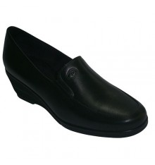 Smooth blade wedge shoe with rubber on the sides Pitillos in black