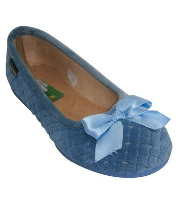 Manoletina cushioned shoe with silver satin tie stuff Alberola in heavenly
