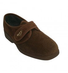 Slipper shoe with velcro type Kuass in cognac