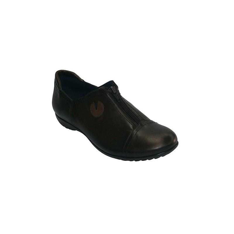 Zapatos sport planos con cremallera Pomares Vazquez en metalizado talla 35 mvL20YG