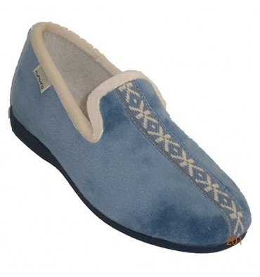 Slipper closed with border on the blade Muro in heavenly
