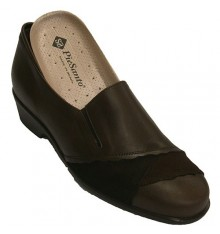 Shoe Leather with suede for orthotics Pie Santo in brown