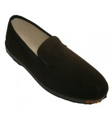 Cotton corduroy slippers Soca in brown