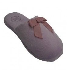 Flat flip flops with bow on the vamp Gioseppo in pink