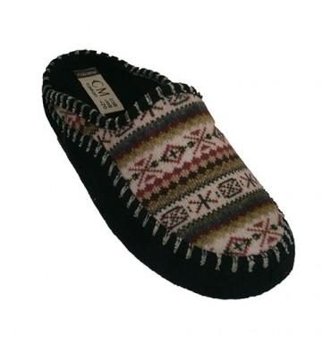Sandálias muito quentinhos com desenhos nórdicos em azul CALZAMUR