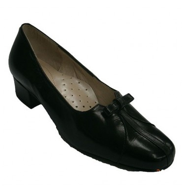 Special wide shoes with heel means opening vamp Roldán in black