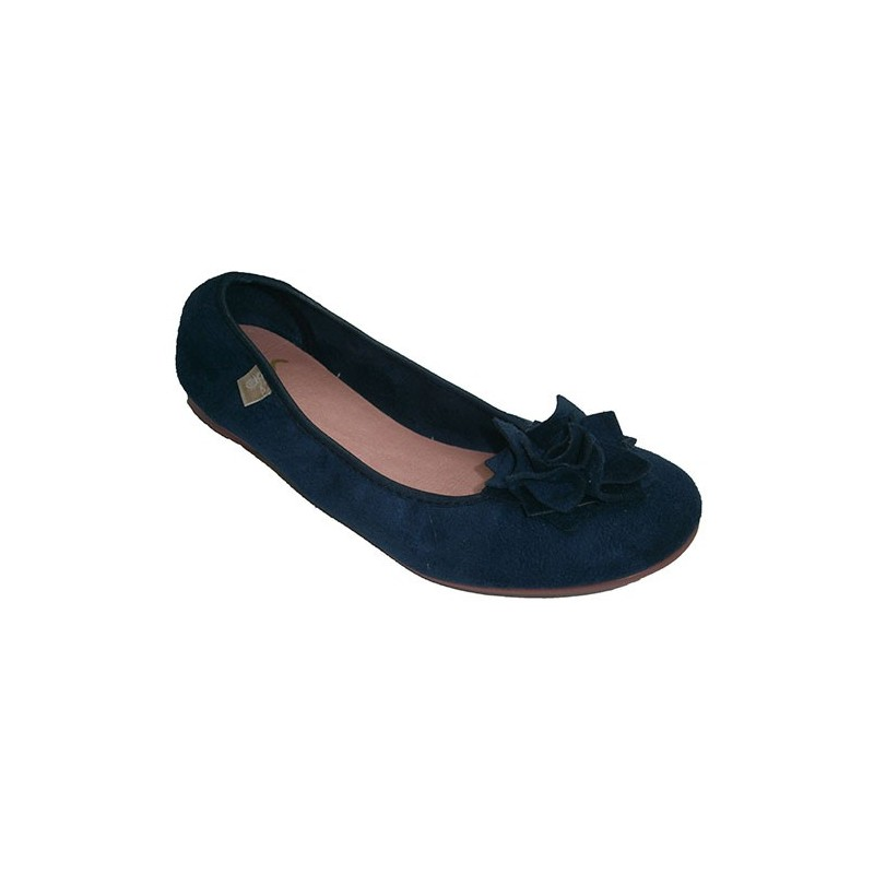 ac88a1b2e0d Type slippers adorned with bow manoletinas Muro in navy blue model 4141