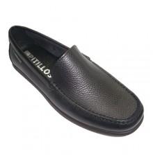 Zapato tipo mocasín pala lisa Pitillos en negro