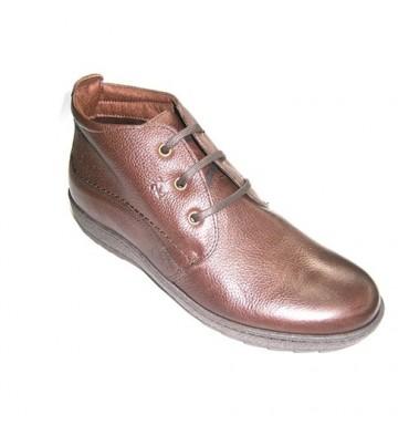 Botas cordones hombre con suela de goma Pitillos en marrón