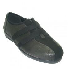 Zapatilla mujer tipo zapato con velcros de licra Doctor Cutillas en gris
