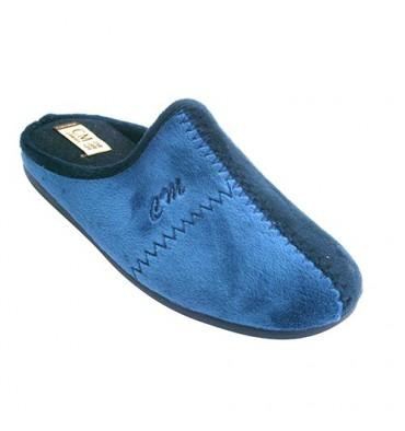Chanclas estar en casa hombre combinadas en dos tonos Calzamur en azul marino