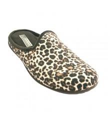 Chanclas mujer de leopardo Gioseppo en marrón