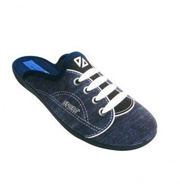 Sapatilha Slipper que simula ser um esporte azul Alberola