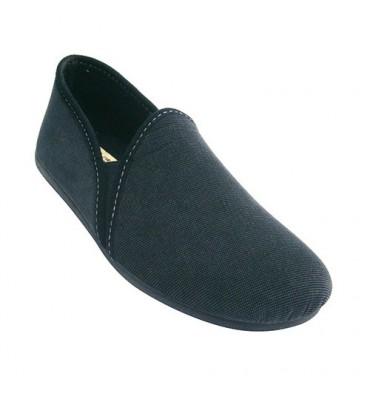 Sapato fechado estar em casa com elástico de lado o homem Calzamur em Azul