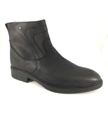 Biker boot type man zip Calzados España in black